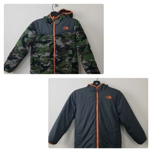 The North Face Boy's Reversible Jacket Gray  Green
